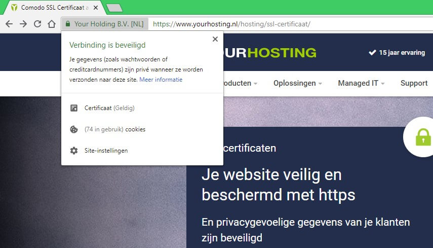 geldigheid SSL-certificaat checken
