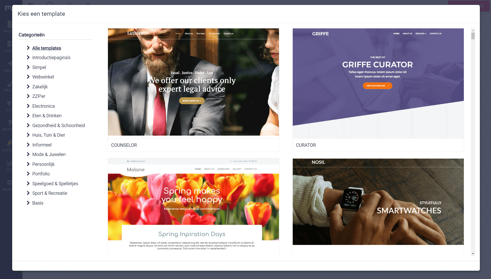 templates website