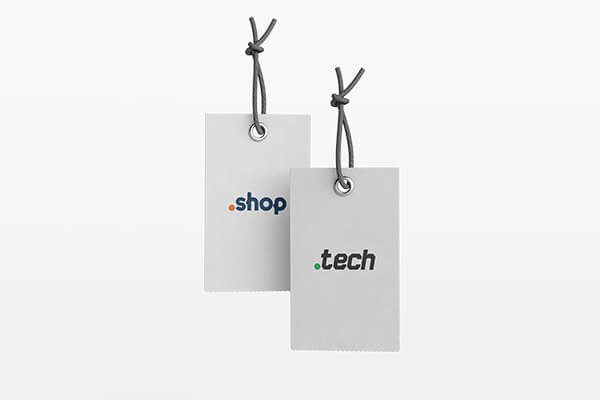 .shop .tech domeinnaam zonder hosting