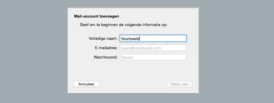 informatie mail-account toevoegen apple mail