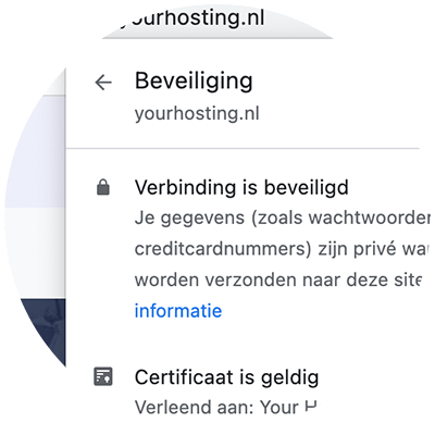 Bedrijfsnaam in de adresbalk met een Extended Validation SSL