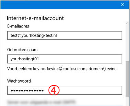 screenshot van windows 10 mail instellingen