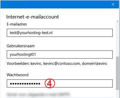 screenshot van windows 10 mail instellingen