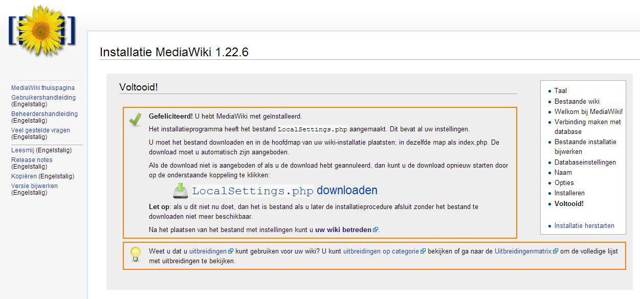 localsettings.php downloaden mediawiki