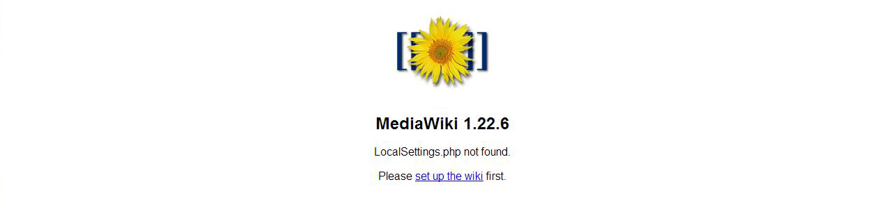 localsettings.php not found mediawiki