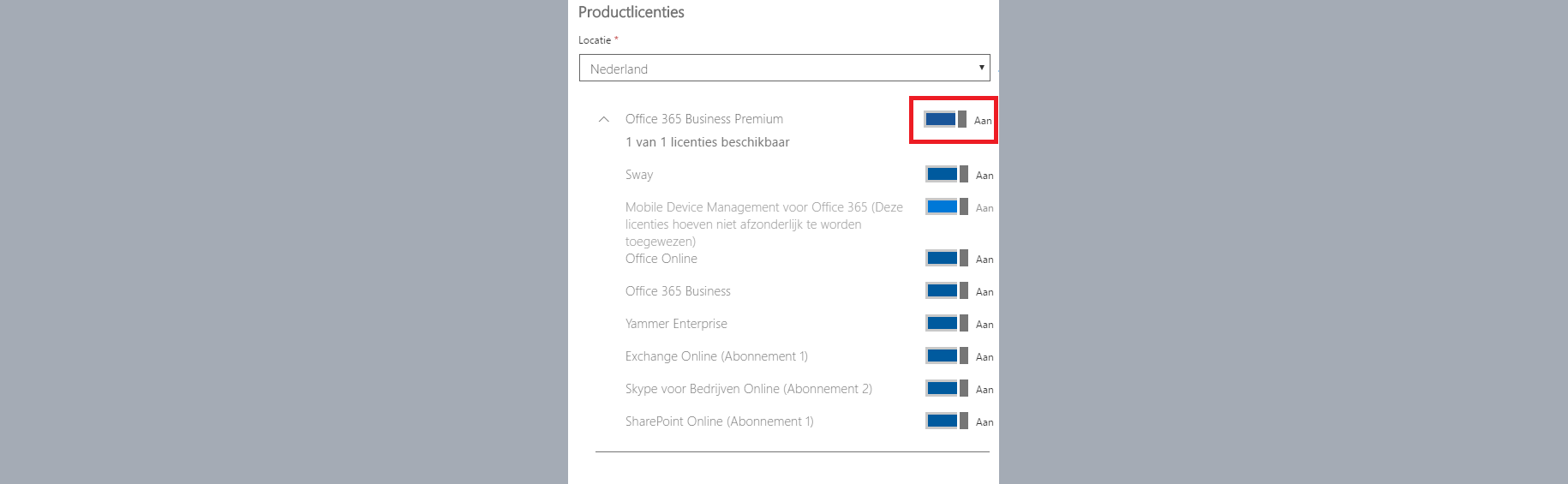 office 365 productlicenties aanzetten