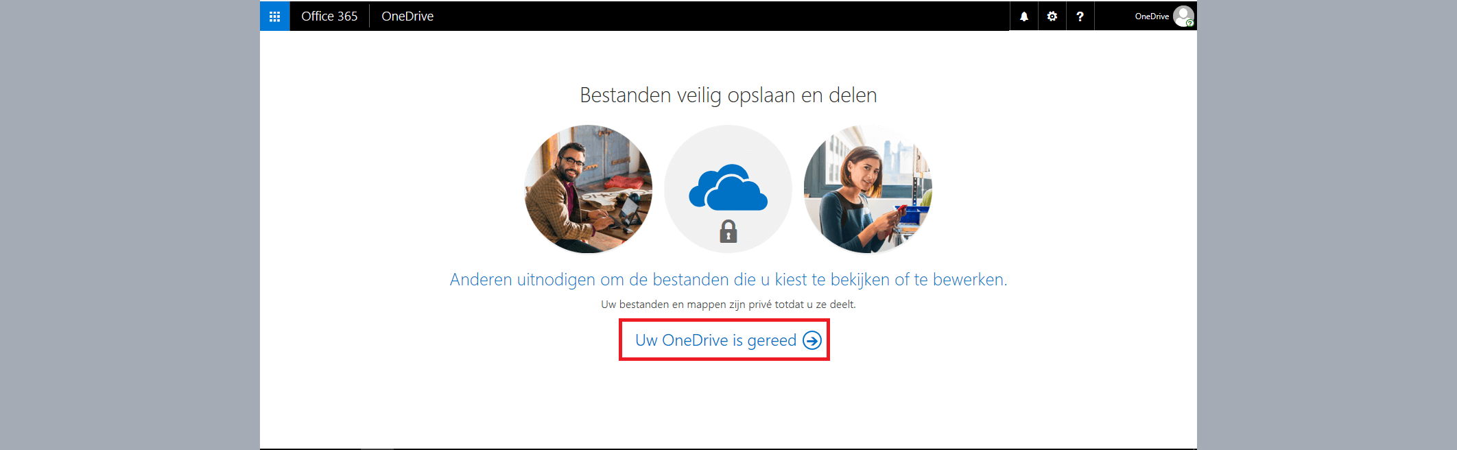 onedrive is gereed