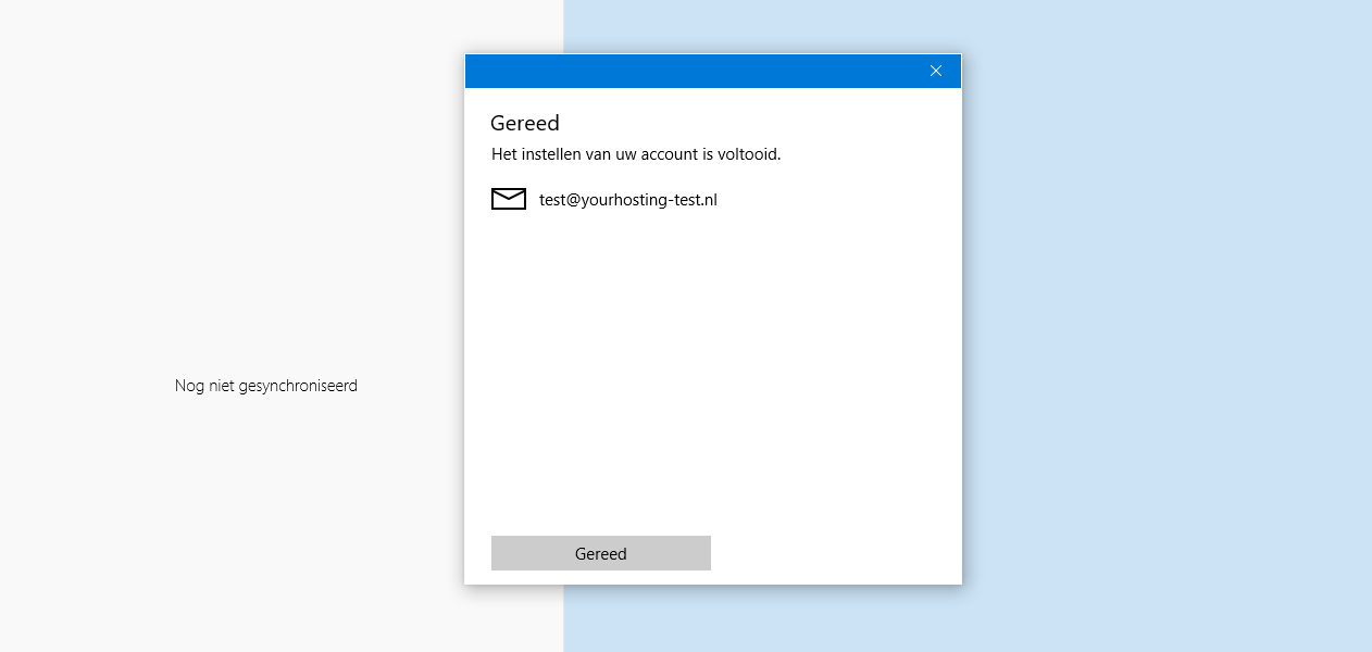 windows 10 mail instellen account voltooid