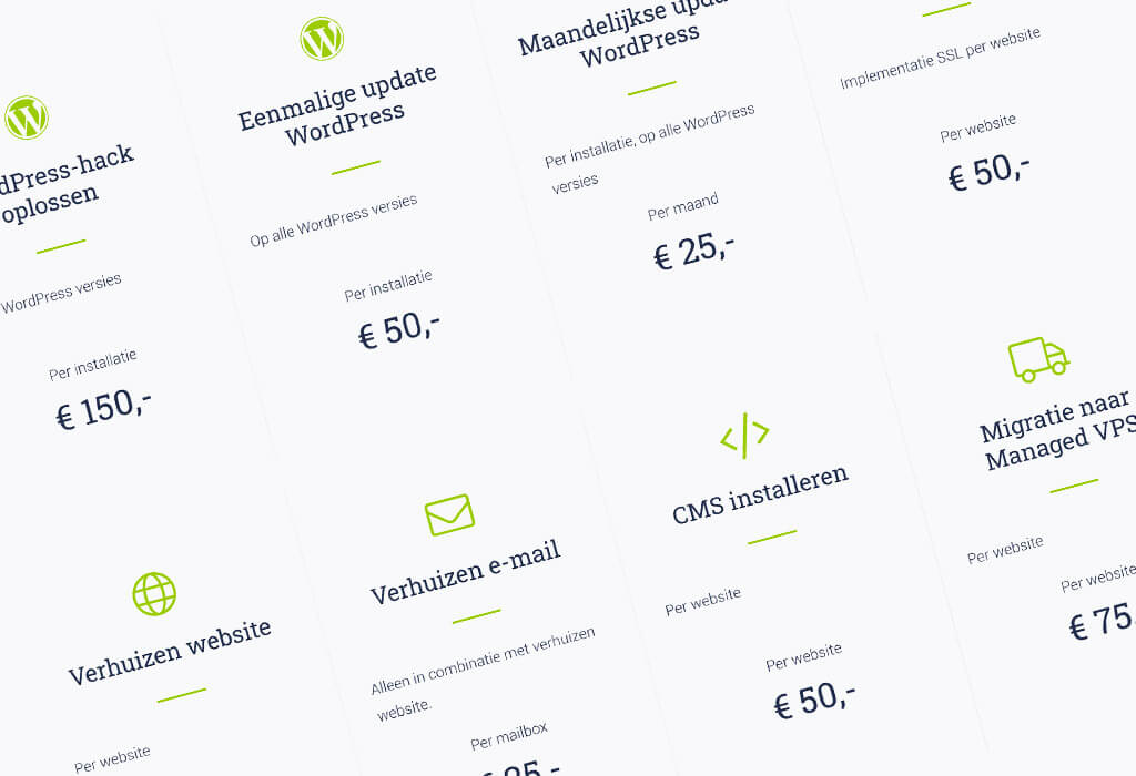 Webmasterservice WordPress