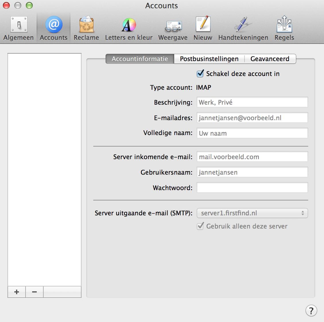 E-mail Apple instellen screenshot 2