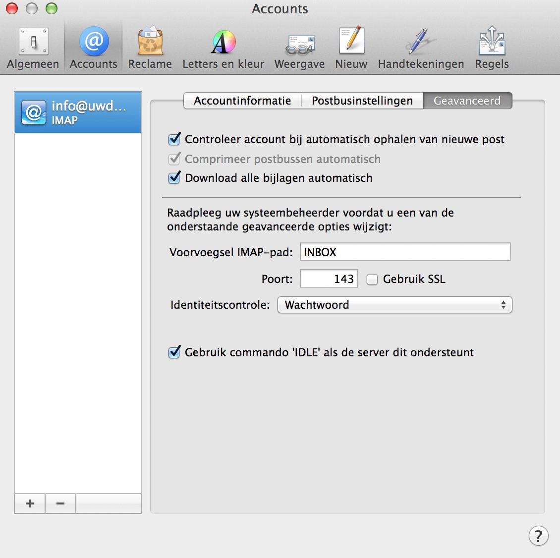 E-mail Apple instellen screenshot 8