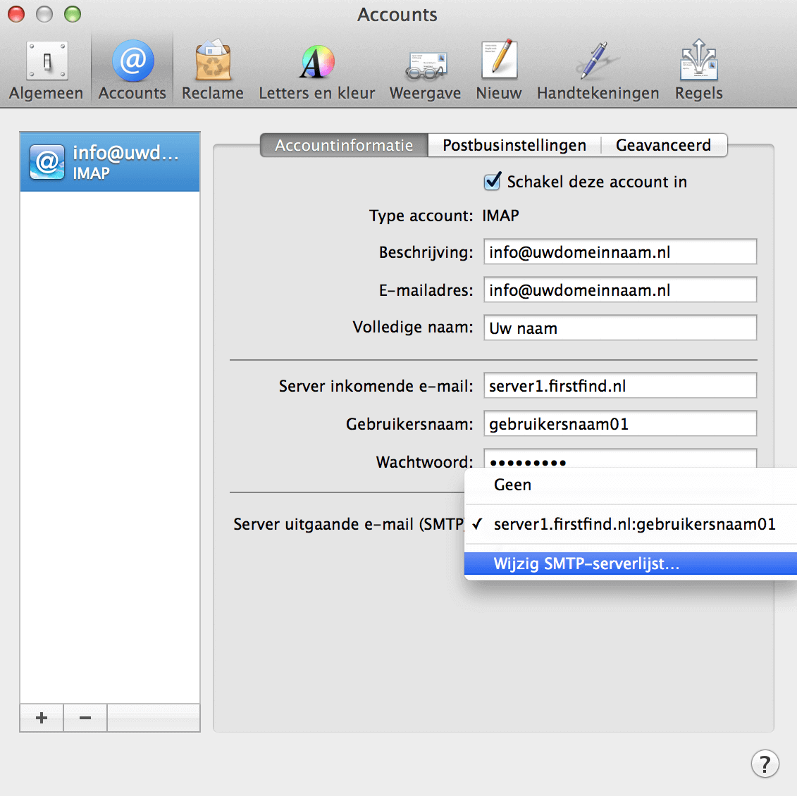 E-mail Apple instellen screenshot 9