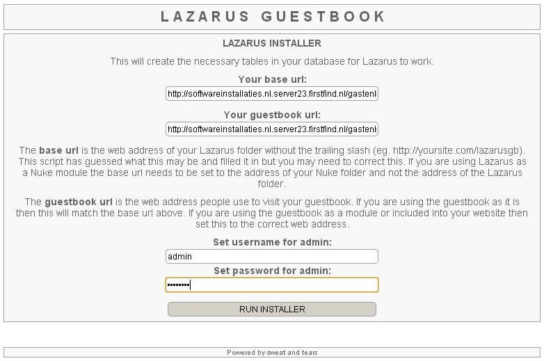 Lazarus installeren screenshot